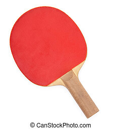 Ping pong paddle isolated on white