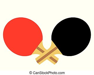 Ping pong paddles - Vector illustration of two table tennis...