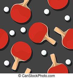 Ping Pong pattern - Ping Pong seamless pattern, vector...