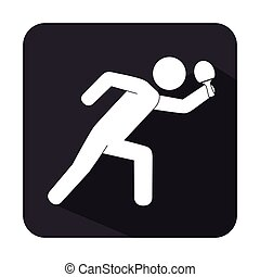 ping pong player avatar vector illustration design