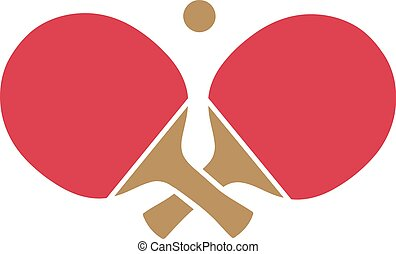 Ping pong rackets crossed