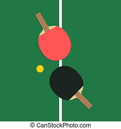 ping-pong, raquettes