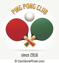 ping-pong, retro, logo