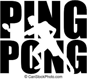 Ping Pong word with cutout