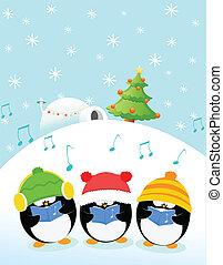 pingouins, caroler