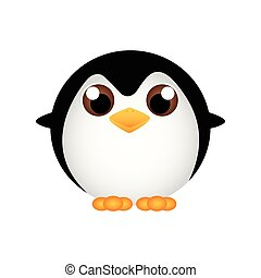 abstract cute pinguin on a white background