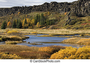 Pingvellir Rift Valley - Iceland - Part of the rift valley...