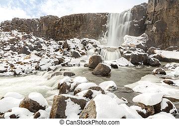 pingvellir Waterfall Iceland