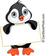 pingvin, tegn