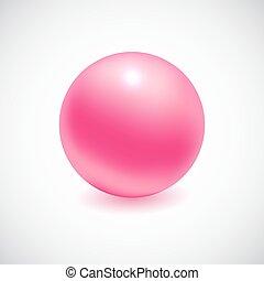 Pink 3D sphere