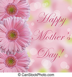 pink abstarct daisy Mother's Day - Happy Mother's Day card ...