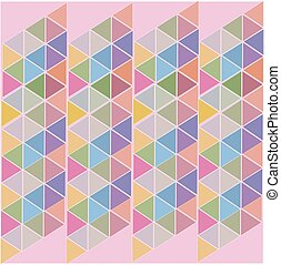 pink abstract background of colored triangles