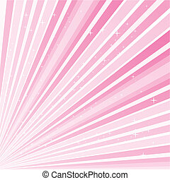 Pink abstract background with rstars, Vector illustration...