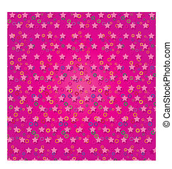 Pink abstract background with stars, part 3,  Vector illustration