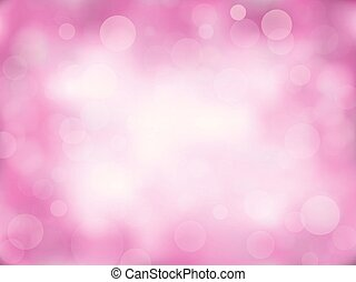 Pink abstract bokeh background.