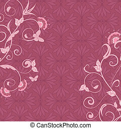 pink abstract floral background