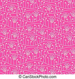 Pink abstract floral seamless background