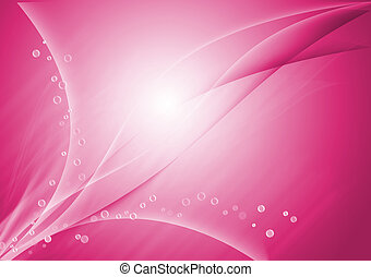 Pink abstract lines curve background