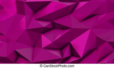 Pink abstract low poly triangle background
