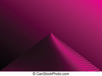 Pink abstract mountain peak