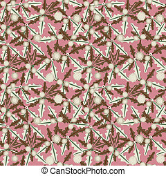 Pink abstract seamless pattern