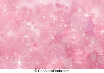 Pink Abstract Star Background - A pink, twinkling star...