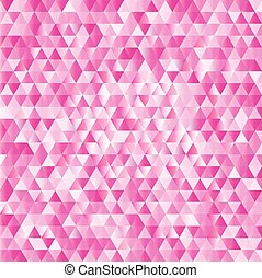 Pink abstract triangles background
