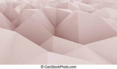 Pink abstract triangular modern motion background for presentations and reports. 4K seamless loop animation, ProRes