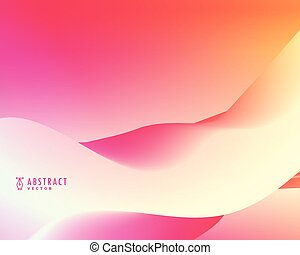 pink abstract vector wavy background design