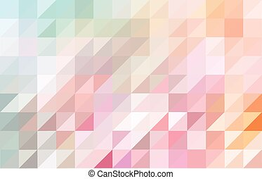 Pink and blue colored triangular pattern background