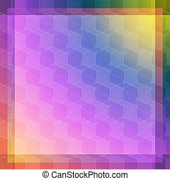 Pink and blue cube abstraction