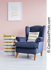 Pink and blue lounge