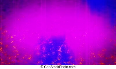 Pink and blue particle twinkles looping background -...