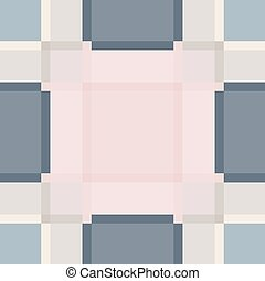 Pink and blue plaid vintage seamless pattern.