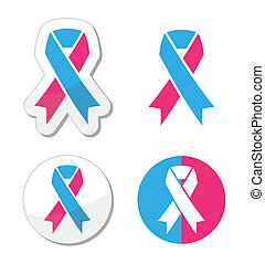 Pink and blue ribbon pregnancy loss - The internationl...