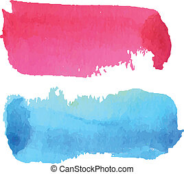Pink and blue watercolour background for kids. Illustration...