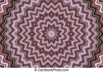 Pink and Brown Mandala