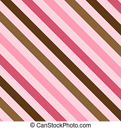 Pink and Brown Stripes - An illustration of pink and brown...