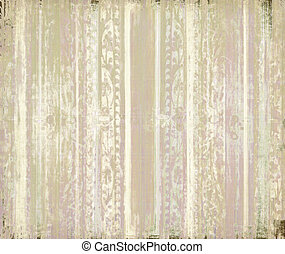 Pink and cream grunge scrollwork stripes background