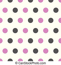 pink and gray polka dots on white background