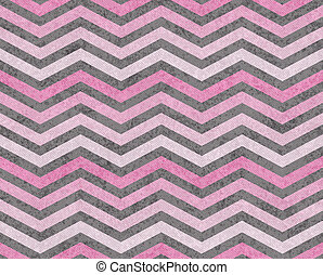 Pink and Gray Zigzag Textured Fabric Background that is...