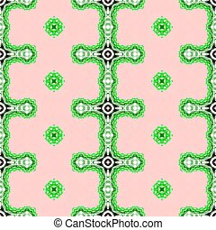 Pink and green seamless pattern