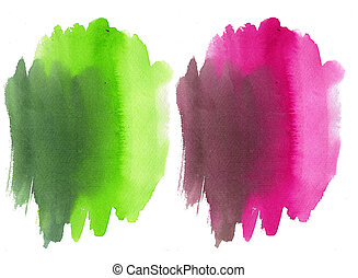 pink and green watercolor background