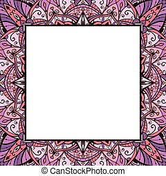 Pink and lilas ornamental frame.