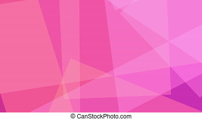 Pink and magenta abstract shapes. Loopable motion background...