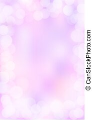 Pink and purple background with white bokeh border