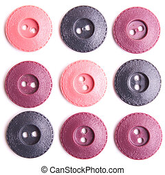 Pink and purple buttons