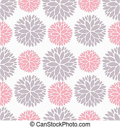 Pink and purple flowers seamless pattern