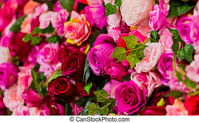 Pink and Purple Roses for Romantic Valentines Day