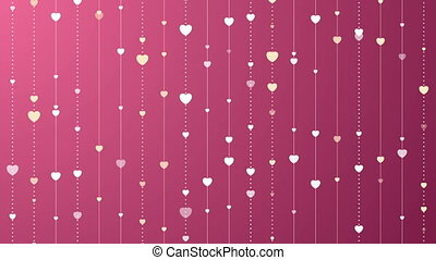 Pink and purple St Valentines Day video clip